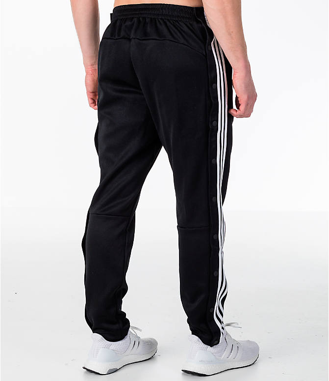 Back Right view of Men's adidas ID Snap Tack Pants in Black/White