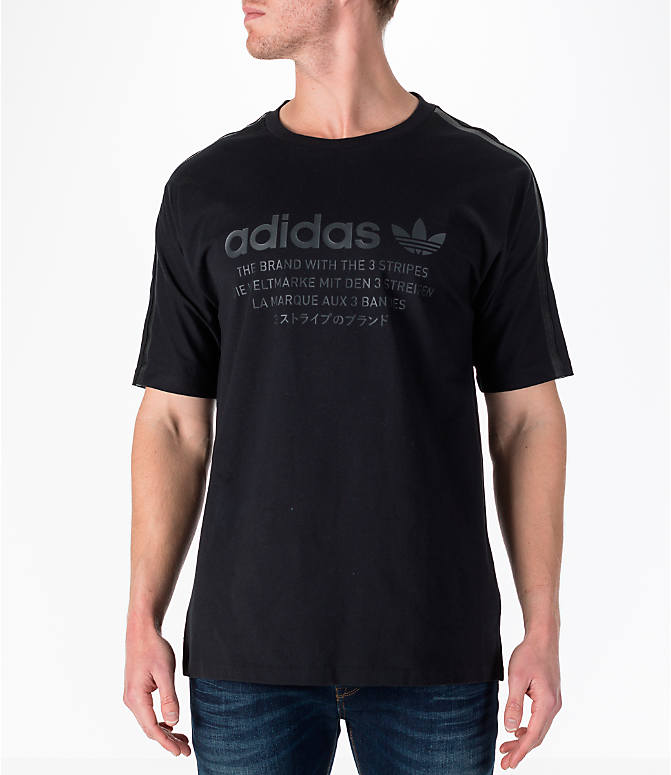 Front view of Men's adidas Originals NMD T-Shirt in Black