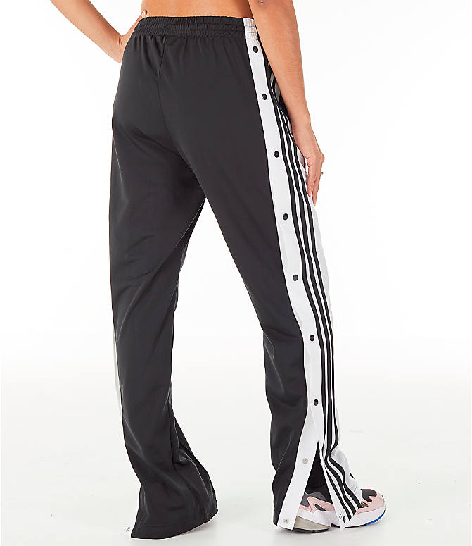 Back Right view of Women's adidas Originals AdiBreak Snap Track Pants in Black
