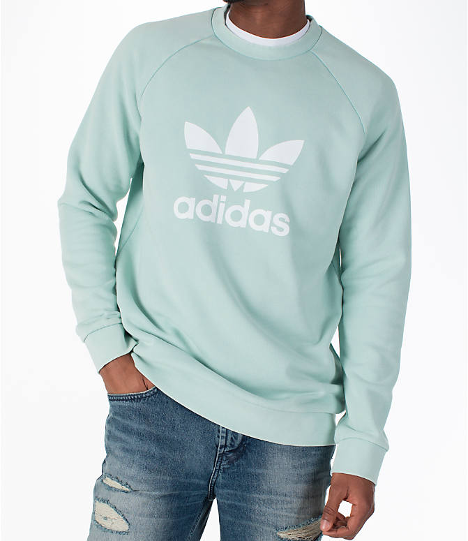 Detail 2 view of Men's adidas Originals adicolor OG Crew Sweatshirt in Ash Green/White