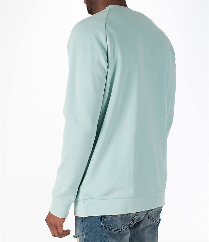 Back Left view of Men's adidas Originals adicolor OG Crew Sweatshirt in Ash Green/White