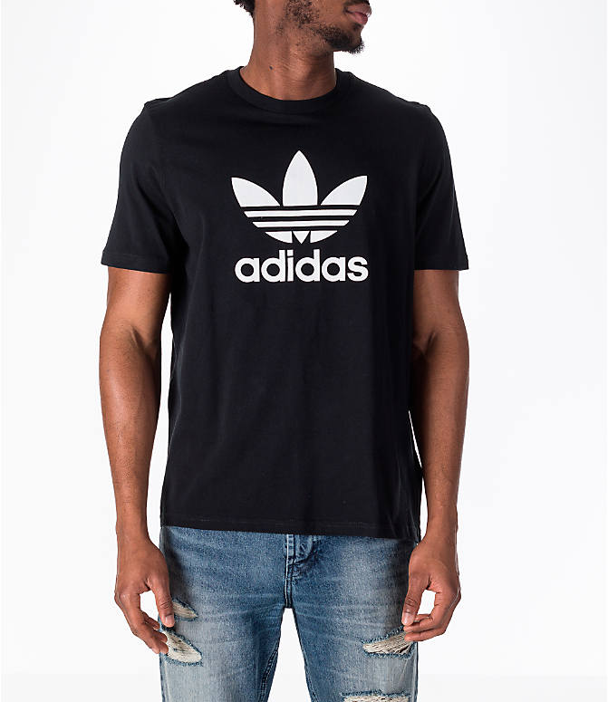 Front view of Men's adidas Originals adicolor OG T-Shirt in Black/White