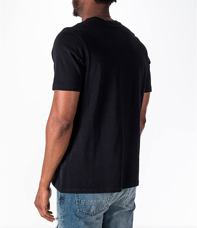 Back Left view of Men's adidas Originals adicolor OG T-Shirt in Black/White