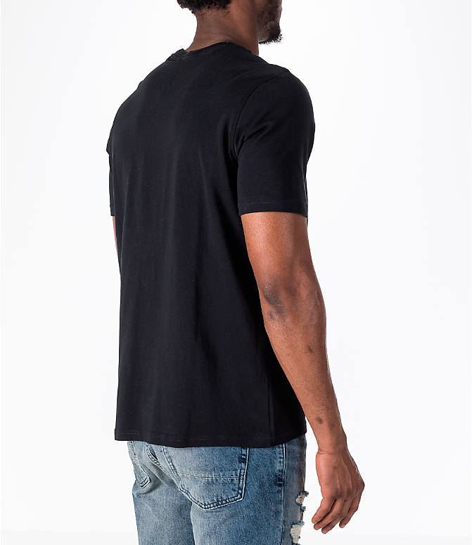 Back Right view of Men's adidas Originals adicolor OG T-Shirt in Black/White