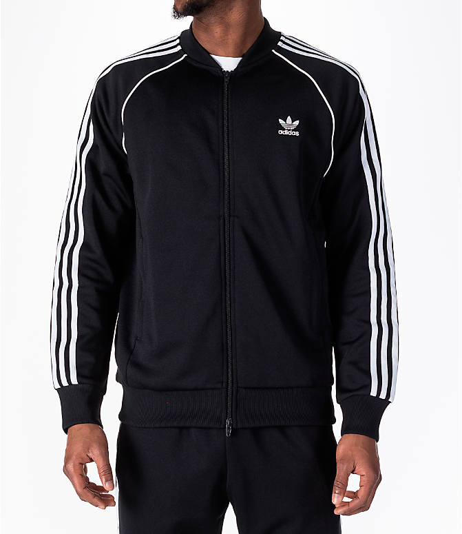 7ab3fbb18274e0 Front view of Men s adidas Originals adicolor Superstar Track Jacket in  Black