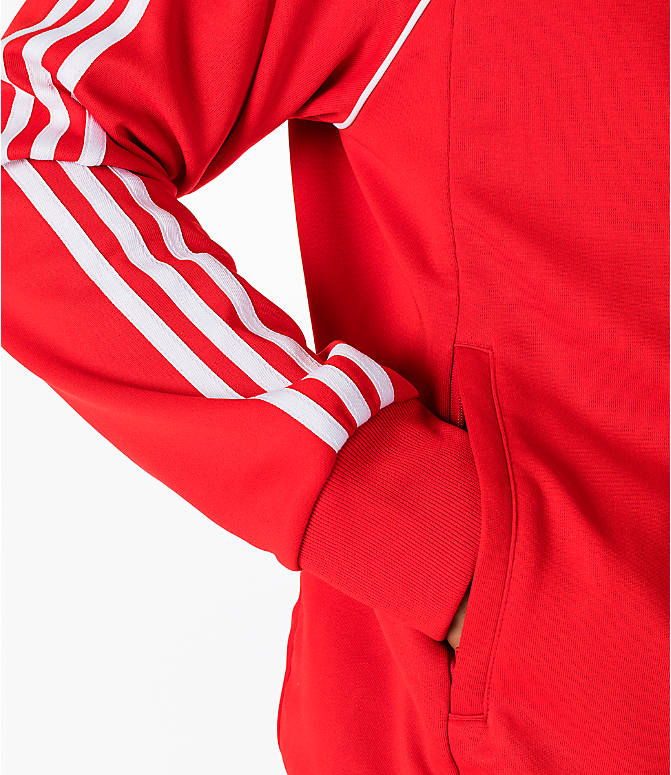 Detail 2 view of Men's adidas Originals adicolor Superstar Track Jacket in Red