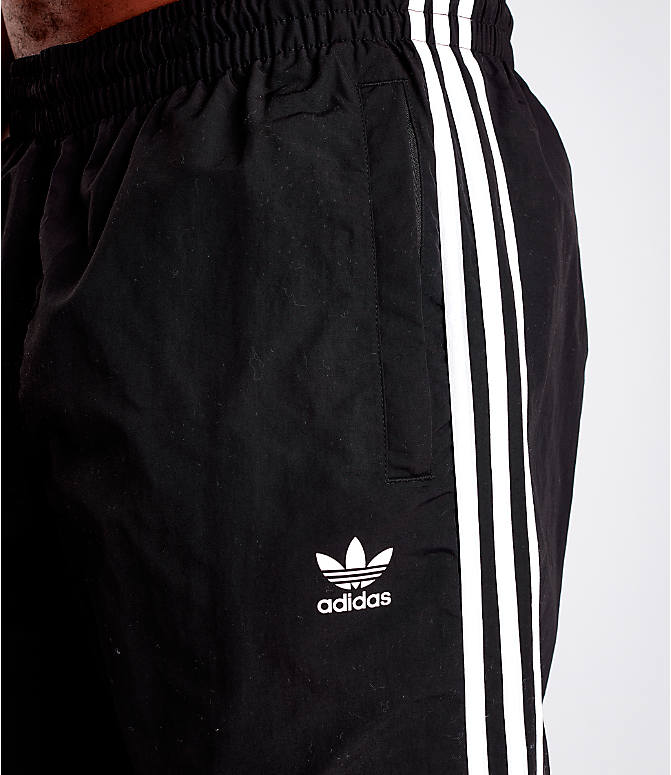 Detail 1 view of Men's adidas Originals 3-Stripes Swim Shorts in Black