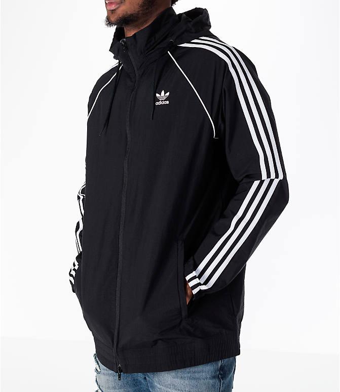 Detail 2 view of Men's adidas Originals adicolor OG Windbreaker Jacket in  Black/White