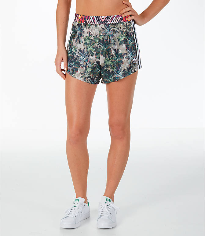 Front view of Women's adidas Originals Jardim Agharta Shorts