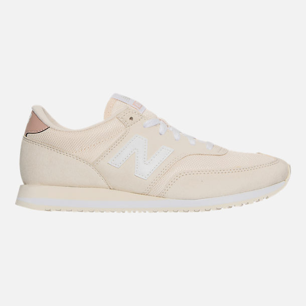 Right view of Women's New Balance 620 Casual Shoes in White/Pink