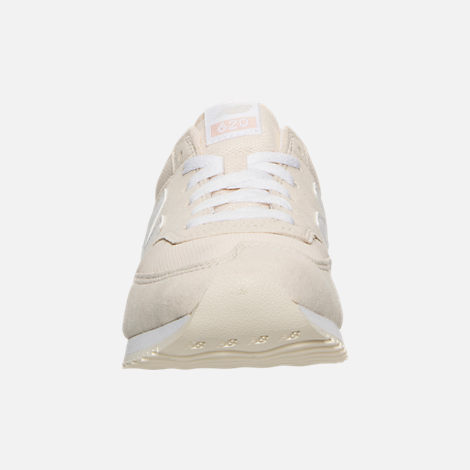 Front view of Women's New Balance 620 Casual Shoes in White/Pink