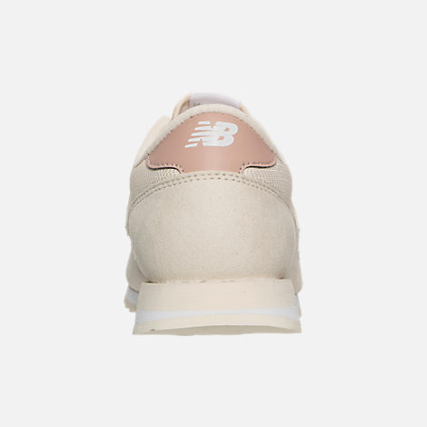 Back view of Women's New Balance 620 Casual Shoes in White/Pink