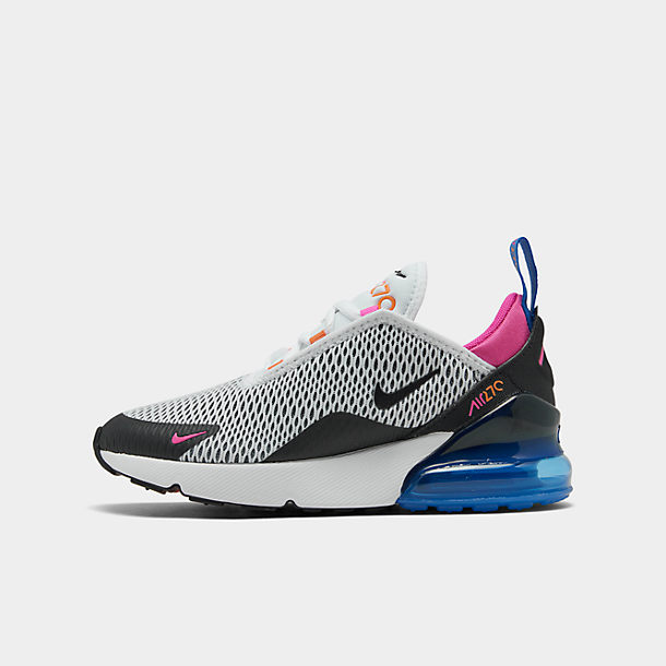 Details about Nike Air Max 270 Little Kids AO2372 001 Black White Athletic Shoe Youth Size 2.5