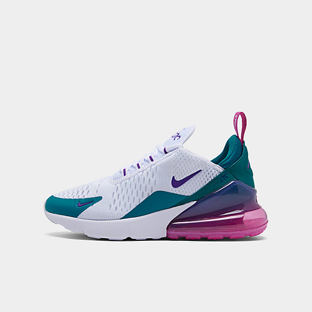 Women's Nike Air Max 270 Black Pink Purple White Girls