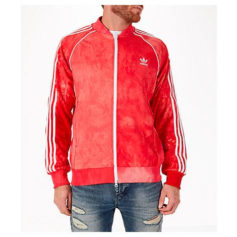 promo code 7d769 13de2 Adidas Originals Men S Adias Originals Pharrell Williams Hu Holi Superstar  Track Jacket, Red In Scarlet