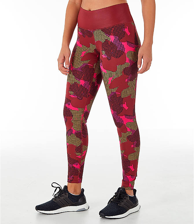 Front Three Quarter view of Women's adidas Believe This Training Leggings