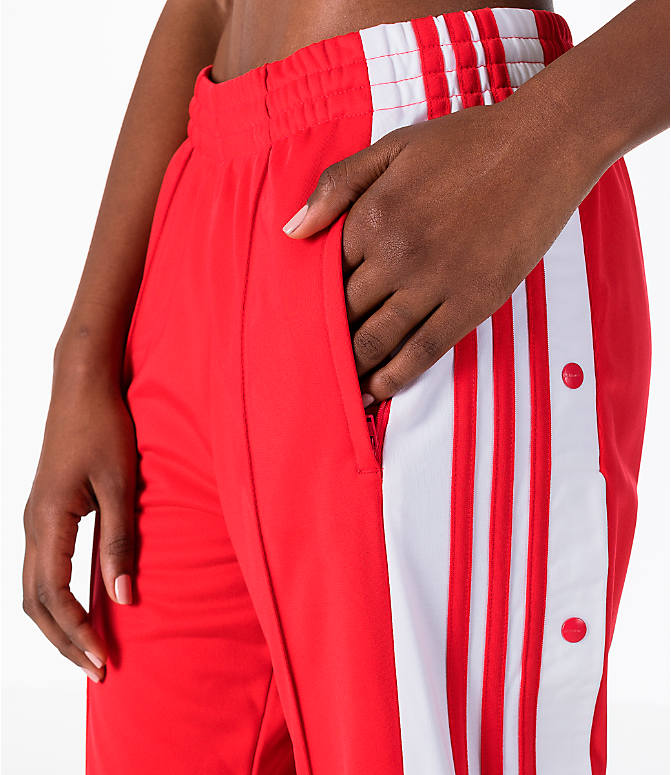 Detail 1 view of Women's adidas Originals Breakaway Pants in Red/White