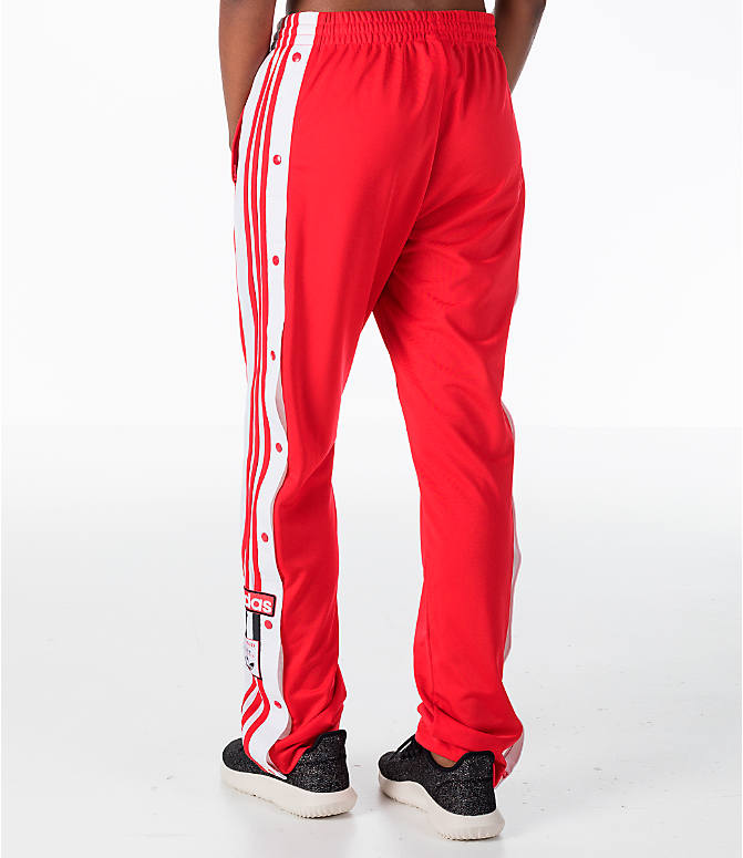 Back Left view of Women's adidas Originals Breakaway Pants in Red/White