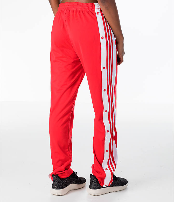 Back Right view of Women's adidas Originals Breakaway Pants in Red/White