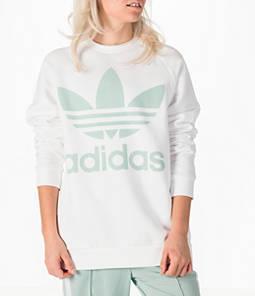 Women's adidas Originals Oversized Trefoil Crew Sweatshirt