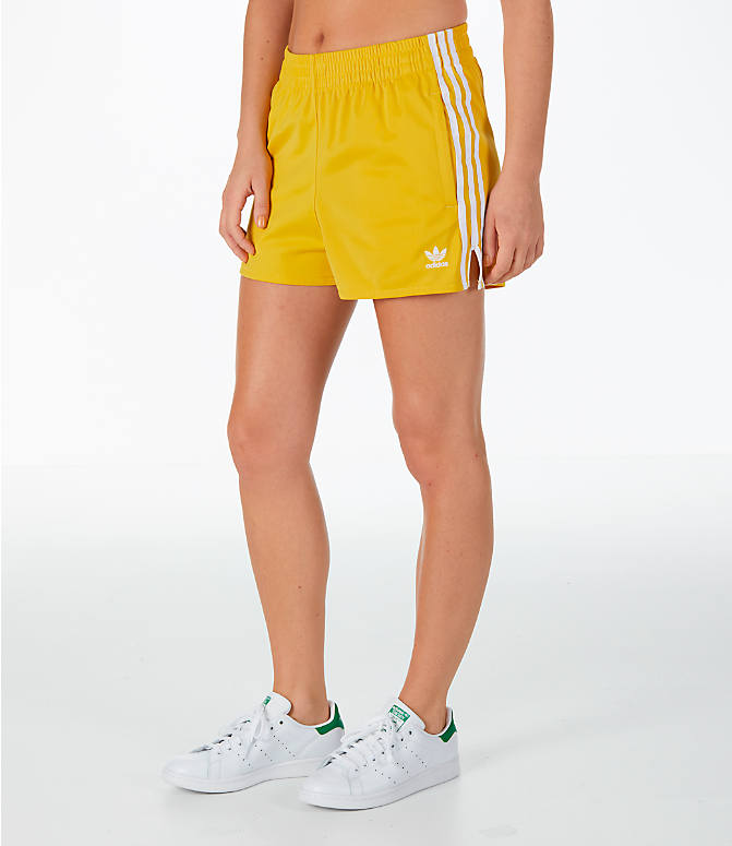 Front Three Quarter view of Women's adidas Originals 3-Stripes Shorts