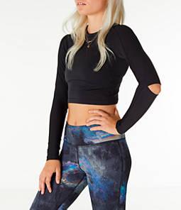 Women's Reebok Cardio Long-Sleeve Cropped Shirt