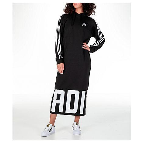 8767efd6430 ... ireland adidas originals womens originals bold age hoodie dress black  808e5 d2428