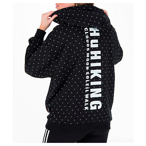 ADIDAS ORIGINALS Originals By Pharrell Williams Hu Hiking Logo Hooded  Sweatshirt, Black