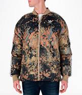 Men's adidas Originals Pharrell Williams HU Hiking Superstar Camo Reversible Jacket