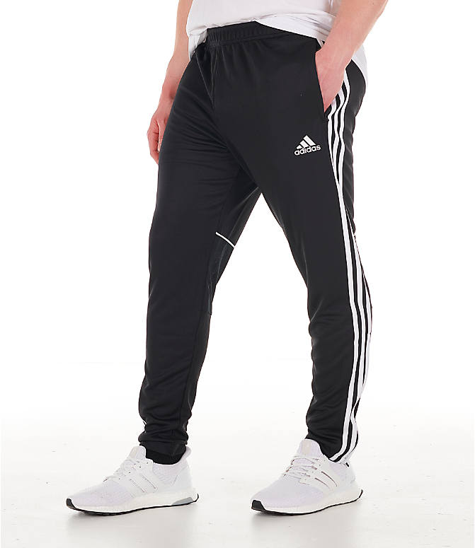 Front view of Men's adidas Originals Tango Training Pants in Black/White