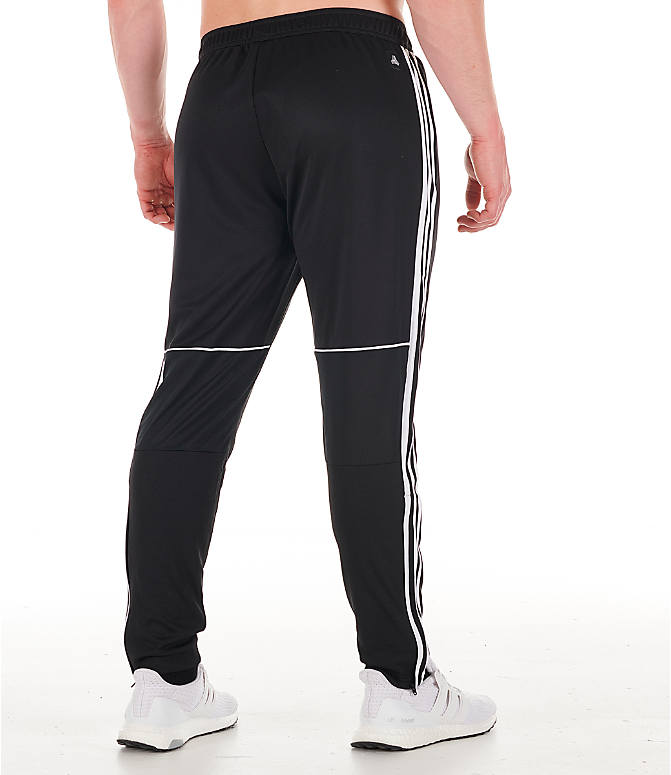 Back Right view of Men's adidas Originals Tango Training Pants in Black/White