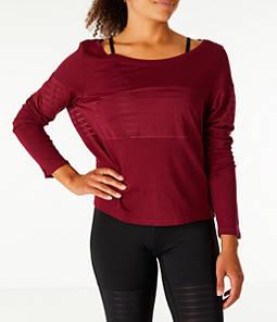 Women's Reebok Dance Mesh Long Sleeve Layer Shirt