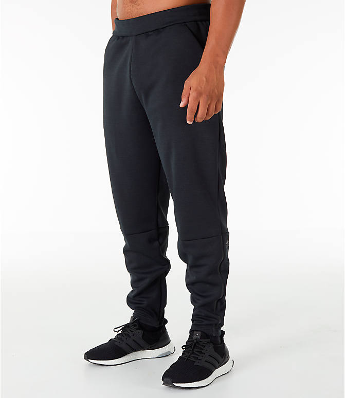 Front Three Quarter view of Men's adidas Z.N.E. Pants in Black