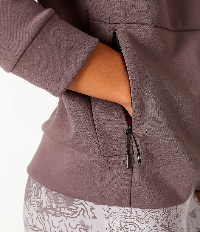 Detail 1 view of Women's Reebok Training Supply Full-Zip Cover Up Jacket in Grey