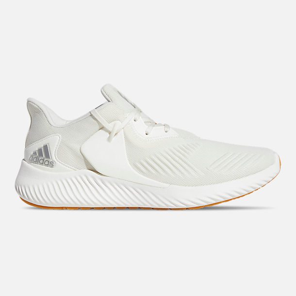 Right view of Men's adidas AlphaBounce RC 2 Running Shoes in Off White / Silver Metallic / Running White