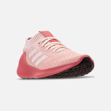 6279a2e588e Three Quarter view of Women s adidas PureBounce+ Running Shoes in Cloud  White Trace Pink