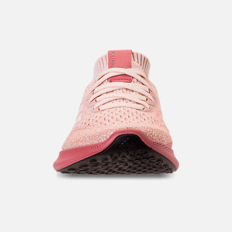 Front view of Women's adidas PureBounce+ Running Shoes in Cloud White/Trace Pink