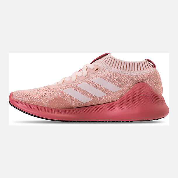 Left view of Women's adidas PureBounce+ Running Shoes in Cloud White/Trace Pink