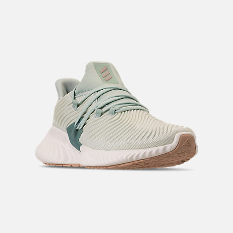 c41711f84c9 Three Quarter view of Women s adidas AlphaBounce Instinct Running Shoes in Ash  Green Vapour Grey
