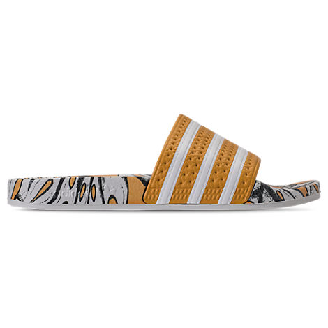 Adilette® W, Craft Gold/Off-White/Craft Gold in Brown