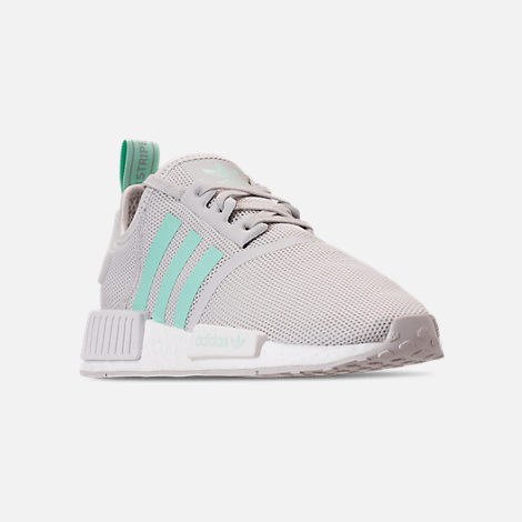 4b28e04512a3f Three Quarter view of Big Kids  adidas NMD Runner Casual Shoes in Grey One