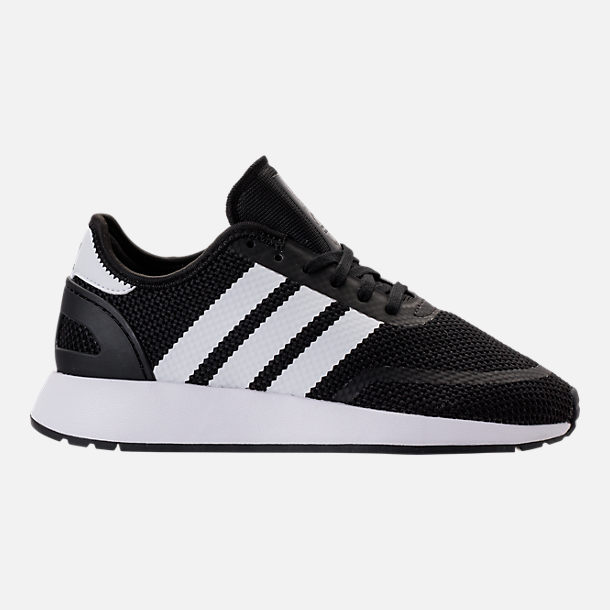 Right view of Boys' Big Kids' adidas N-5923 Casual Shoes in Core Black/Footwear White/Core Black