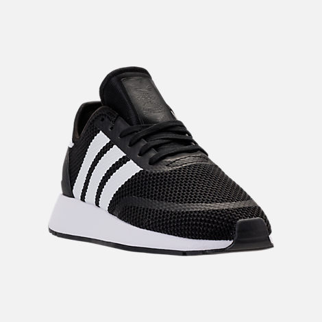 Three Quarter view of Boys' Big Kids' adidas N-5923 Casual Shoes in Core Black/Footwear White/Core Black