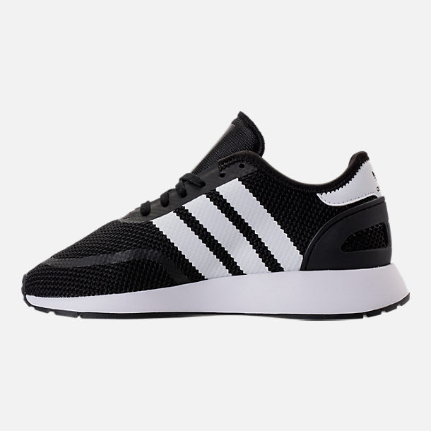 Left view of Boys' Big Kids' adidas N-5923 Casual Shoes in Core Black/Footwear White/Core Black