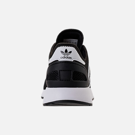 Back view of Boys' Big Kids' adidas N-5923 Casual Shoes in Core Black/Footwear White/Core Black