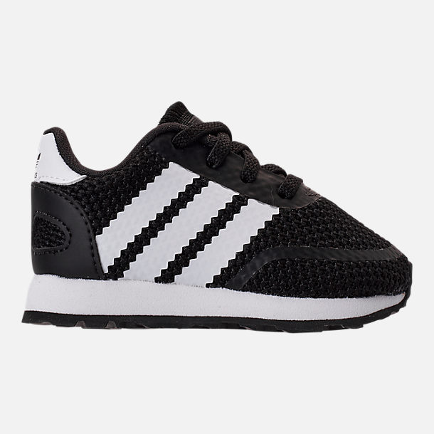Right view of Boys' Toddler adidas N-5923 Casual Shoes in Core Black/Footwear White/Core Black