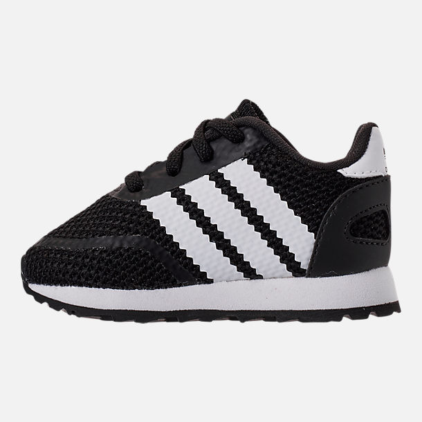 Left view of Boys' Toddler adidas N-5923 Casual Shoes in Core Black/Footwear White/Core Black