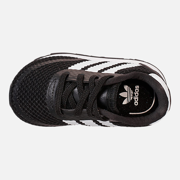 Top view of Boys' Toddler adidas N-5923 Casual Shoes in Core Black/Footwear White/Core Black