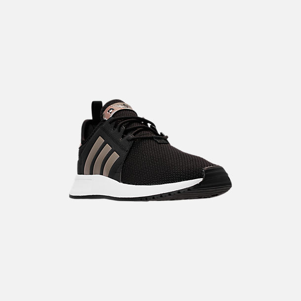 Three Quarter view of Men's adidas Originals X_PLR Casual Shoes in Core Black/Ash Silver/Footwear White
