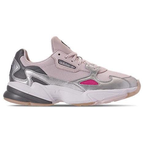 ADIDAS ORIGINALS Women'S Originals Falcon Suede Casual Shoes, Pink/Purple